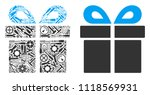 present mosaic of repair... | Shutterstock .eps vector #1118569931