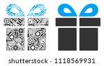 present mosaic of repair...   Shutterstock .eps vector #1118569931