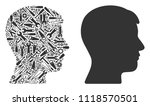 man head profile composition of ...   Shutterstock .eps vector #1118570501