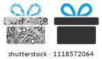 gift mosaic of workshop tools.... | Shutterstock .eps vector #1118572064