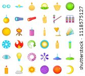 planet icons set. cartoon style ... | Shutterstock . vector #1118575127