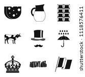 region icons set. simple set of ... | Shutterstock . vector #1118576411
