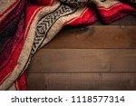 a mexican serape blanket on a...   Shutterstock . vector #1118577314