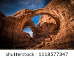 the double arch in moab utah at ...   Shutterstock . vector #1118577347