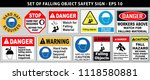 set of falling object hazard or ... | Shutterstock .eps vector #1118580881