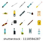 smoking icon set. flat set of... | Shutterstock . vector #1118586287