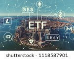 cryptocurrency etf theme with... | Shutterstock . vector #1118587901