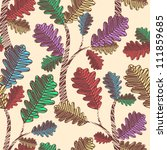 seamless pattern with leaves | Shutterstock .eps vector #111859685