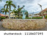 Small photo of Falmouth, Jamaica - May 31 2015: The Water Square in Falmouth, Jamaica
