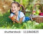 little girl with fruit. | Shutterstock . vector #111860825