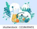 culture of tea drinking | Shutterstock .eps vector #1118630651