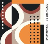silk scarf with circles shape... | Shutterstock .eps vector #1118640239