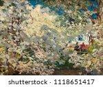 landscape  oil painting  hand... | Shutterstock . vector #1118651417