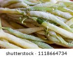 long frozen light asparagus... | Shutterstock . vector #1118664734