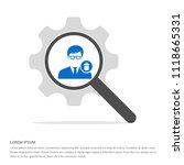 delete user icon.   free vector ... | Shutterstock .eps vector #1118665331