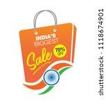 big sale indian independence... | Shutterstock .eps vector #1118674901