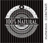 100  natural silver shiny emblem | Shutterstock .eps vector #1118676635