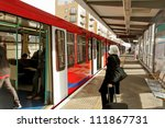 people on the london train... | Shutterstock . vector #111867731