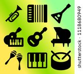 vector icon set  about music... | Shutterstock .eps vector #1118680949