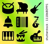 vector icon set  about music... | Shutterstock .eps vector #1118680991