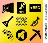 vector icon set  about music... | Shutterstock .eps vector #1118681009