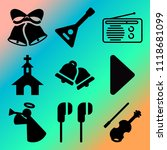 vector icon set  about music... | Shutterstock .eps vector #1118681099