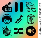 vector icon set  about music... | Shutterstock .eps vector #1118681159