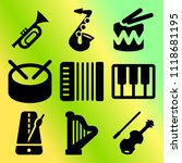 vector icon set  about music... | Shutterstock .eps vector #1118681195