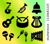 vector icon set  about music... | Shutterstock .eps vector #1118681225