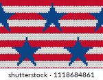 4th of july stars and stripes... | Shutterstock .eps vector #1118684861
