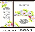 invitation with floral... | Shutterstock . vector #1118686424