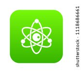 atomic model icon digital green ... | Shutterstock .eps vector #1118686661