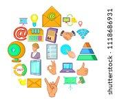 diary icons set. cartoon set of ... | Shutterstock .eps vector #1118686931