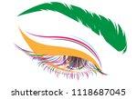 illustration of eye makeup and... | Shutterstock .eps vector #1118687045