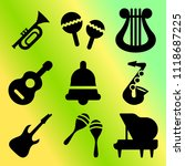 vector icon set  about music... | Shutterstock .eps vector #1118687225