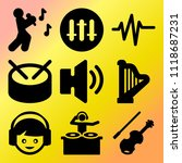 vector icon set  about music... | Shutterstock .eps vector #1118687231