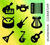 vector icon set  about music... | Shutterstock .eps vector #1118687249