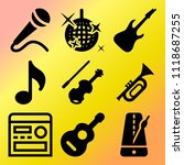 vector icon set  about music... | Shutterstock .eps vector #1118687255