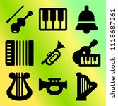vector icon set  about music... | Shutterstock .eps vector #1118687261