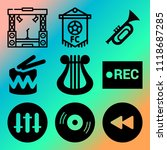 vector icon set  about music... | Shutterstock .eps vector #1118687285