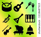 vector icon set  about music... | Shutterstock .eps vector #1118687315