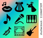 vector icon set  about music... | Shutterstock .eps vector #1118687339