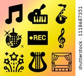 vector icon set  about music... | Shutterstock .eps vector #1118687351