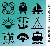 vector icon set  about travel... | Shutterstock .eps vector #1118687369