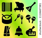 vector icon set  about music... | Shutterstock .eps vector #1118687381