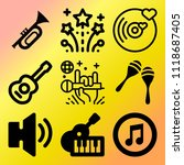 vector icon set  about music... | Shutterstock .eps vector #1118687405