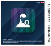 delete user icon.   free vector ... | Shutterstock .eps vector #1118688341