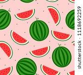 vector seamless watermelon...   Shutterstock .eps vector #1118692259