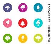 verdant icons set. flat set of... | Shutterstock .eps vector #1118693021