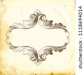 retro baroque decorations... | Shutterstock .eps vector #1118694014